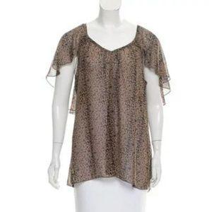 👠Needle & Thread Cheetah Print Top